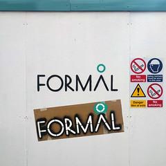 Something a bit more Formal (id-iom) Tags: aerosolpaint arts commission england formal graffiti hoardings idiom irony london spray spraypaint stencil streetart uk urban urbanart vandalism wall