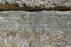 0014 Greek Wall Inscription, Near Baptistry, Butrint (3) (tobeytravels) Tags: albania butrint buthrotum illyrian greek wallinscription