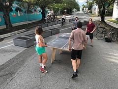 Wednesday night ping pong with Frida & Frank #vivavancouver (Paul Krueger) Tags: adanacvernonplaza adanacbikeway