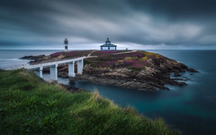 Isla Pancha (Galicia, Spain) (Tomasz Raciniewski) Tags: isla pancha illa clouds ocean seascape landscape atardecer spain españa shore coast coasta ribadeo galicia island outdoor d3200 haida cluds longexposure le nd filter nd400 cantabrico mar agua water green flowers