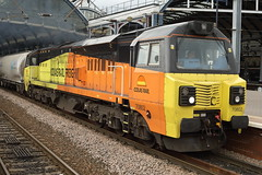 70802 6S89 (Rob390029) Tags: colas rail class 70 70802 newcastle central railway station ncl ecml east coast mainline tyne wear tyneside northeast north train track tracks rails travel travelling transport transportation transit loco locomotive diesel