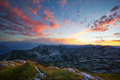 Sunset at Salzofen (matthiasuhl) Tags: mountain sunset totesgebirge salzofen 2000m colorful