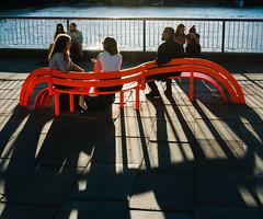 South Bank Shadows (jonron239) Tags: london southbank bench art shadows man woman boy girl men women girls couples