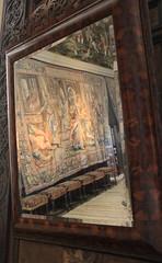 Reflection on a tapestry (jpotto) Tags: uk derbyshire hardwickhall nationaltrust house furnishings decoration hardwick tapestry tapestries reflection