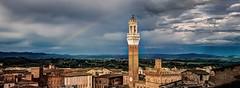 Siena (López Pablo) Tags: siena tuscany italy panorama tower sky roof cloud red nikon d90 urbano rainbow