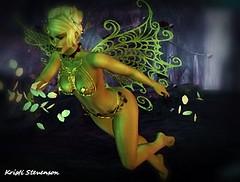 Faery Magic_003 (kristi Stevenson (KC Photography and Graphic Art S) Tags: secondlife secondlife:parcel=islesofperversion faery fairey fantasy wings edited photoscape maitreya rose