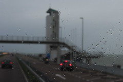 And then the rains came.... (Davydutchy) Tags: afsluitdijk ôfslútdyk closure dam zuiderzee zuyder sea zee ijsselmeer waddenzee noordzee northsea dijk deich dike a7 e22 motorway sluice denoever stevin lock sluis sluizen schleuse renovatie renovation highway snelweg autobahn cornelislely lely ingenieur civil engineer monument architect dudokvanheel dudok restaurant uitzicht uitzichtplatform platform toren tower turm bridge flyover pedestrians parking carpark june 2017