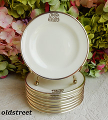 Vintage Cauldon Porcelain Plates ~ White ~ Heavy Sterling Silver Overlay (Donna's Collectables) Tags: vintage cauldon porcelain plates ~ white heavy sterling silver overlay
