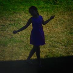 Little Girl Dancing (Arthur Koek) Tags: dancing girl silhouette bluedress grass candid harderwijk veluwe gelderland thenetherlands