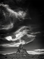 Whirling Skies (DPRPhoto) Tags: valleyofthegods desertlandscape dramaticskies rockformations southwestlandscape blackandwhitelandscape