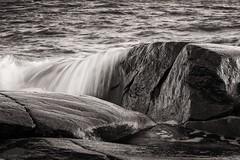 B&W Seascape (samiKoo) Tags: blackandwhite blackwhite bw sea seascape rocks foam nature naturallight naturephotography landscape detail summer july finland closeup water