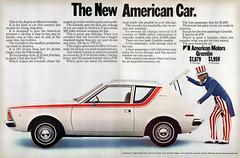1970 AMC Gremlin (Tom Simpson) Tags: amc amcgremlin americanmotorcars 1970 1970s vintage car cars automobile unclesam vintagead ad ads advertising advertisement vintageads