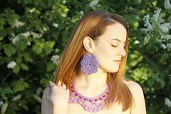 Most Intense (Paolo Dallavalle) Tags: ragazza girl modella model parco park natura nature collana necklace earrings orecchini uncinetto