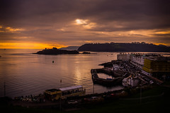 Evening Plymouth Sound (trevorhicks) Tags: plymouth sound tamar devon sunset sea water tamron canon 6d clouds sky