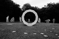 Heavens Gate Sculptures (Nathan McClatchey) Tags: heavens gate warminster england longleat sculpture modern art carving traditional english artist history historic monochrome forest black white desaturated nikon d5100 composition tree nature travel tourism visit blog