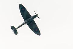 Spitfire over the Solent (ejwwest) Tags: spitfire80 warplane hampshire portsmorth loop roll spitfire southampton aeroplane solent pilot titchfield england unitedkingdom gb