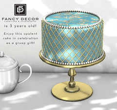 3 years! Free cake! (fancydecorsl) Tags: fancy decor group gift free freebie second life sl