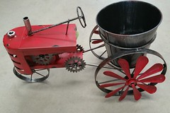 Red Tractor (Gillian Everett) Tags: planter pot tractor red hardware store 365 2017 mdpd2017 mdpd201707 queensland novelty 30 117 miniature explore explored
