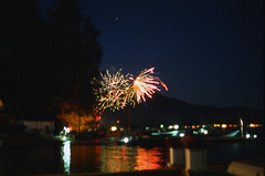 7.3.17 LLWM Fireworks Pentax E6 E 26 (Jcicely) Tags: 2017 e6 fireworks fourthofjuly july loonlake loonlakewithmarvin pentax35mm water