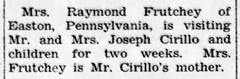 1952 - Cirillo mother visit - Enquirer - 18 Dec 1952