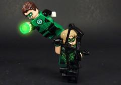 Green Lantern and Arrow (MrKjito) Tags: lego minifig super hero comics dc comic green arrow hal jordan oliver queen lantern bros dream rebirth team up