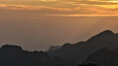 sunrise (dr_scholz@ymail.com) Tags: surise mountain morning fog sky dusk backlight daylight layers yellow huangshan china yellowmountains outdoors landscape