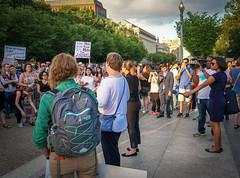 2017.07.26 Protest Trans Military Ban, White House, Washington DC USA 7649