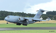 08003 NATO Boeing C-17 Globemaster II, Glasgow Prestwick 27/7/17 (BS Images.) Tags: egpk airport aircraft aviation ayrshire glasgowprestwick gpa prestwick prestwickairport pik southayrshire scotland military boeing c17 globemaster royalairforce raf nato