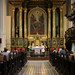 The locals visit the beautifully ornated Jesuit church