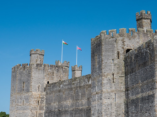 Caernarfon Castle North Wales.