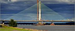 Mersey Gateway Project (Northern Pylon ) 30th July 2017 (Cassini2008) Tags: merseygatewayproject bridgeconstruction rivermersey cablestayedroadbridge construction bridge