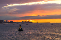 River Mersey sunset (saile69) Tags: new brighton sunset mersey fort lighthouse wirral