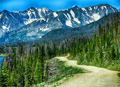 PLACES IN THE HEART (Aspenbreeze) Tags: countryroad mountainroad dirtroad forad mountains mountain snowypeaks rural country landscape mountainscape coloradolandscape colorado rockymountains beverlyzuerlein bevzuerlein aspenbreeze moonandbackphotography