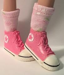 Daisy Pink Short Socks...For Blythe...