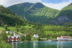 Norwegian peace... (amanecer334) Tags: norway landscape flam nature summer norwegian landscapetravel natural fjord fiord sea mountains amazing beautiful magic travel traveller village little houses port shoreline sealine north scandinavia july sunlight daylight colourfull colors green