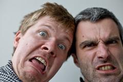 Pulling faces (Gary Kinsman) Tags: favoriten vienna 10thdistrict canon50mmf14 wien austria österreich 10th portrait grin 2011 canon5d selfportrait selfie pullingfaces people person
