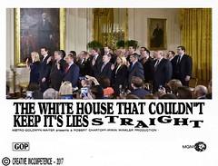 The White House That Couldn't Keep It's Lies Straight (doctor075) Tags: donaldjtrump donaldjdrumpf washingtondc whitehouse gop republicans republicanparty teaparty whitehousestaff humourparodysatirecomedypoliticsrepublicanteapartygopfoxnews movie