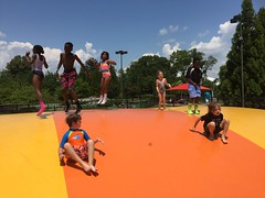 IMG_2527 (Montgomery Parks, MNCPPC) Tags: southgermantownpark splash southgermantownsplashplayground water bouncepillow