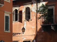 on the corner of the town (Hayashina) Tags: italia verona italy lamp window wall hww