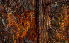 Corroseffluxion (Junkstock) Tags: abstract abstraction chaotic chaos color corrosion corroded decay decayed downeast maine rust rusty rustyandcrusty rusted textures texture weathered wall