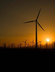 Power of the desert winds.jpg (Darren Berg) Tags: wind winmill turbine sunset mountains power energy electricity sun desert palm springs coachella blade yellow orange silhouette