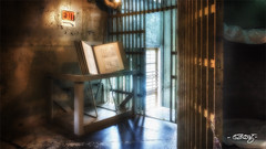 Exit (dougkuony) Tags: councilbluffs squirrelcage squirrelcagejail jail exit hdr