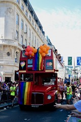 (Giramund) Tags: londonpride lgbt celebration colourful rainbow loveislove equality red routemaster balloon old bus