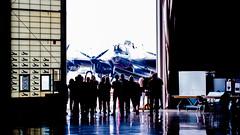 Lancaster Bomber (u/sky) Tags: reflection crowd silhouette light lancasterbomber lancaster bomber airplane plane airforce rcaf royalcanadianairforce canadianwarplane warplane canadianwarplaneheritagemuseum ontario ontariocanada canada southernontario usk christophulanski ulanski krzysztofulanski