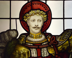 Duke of Clarence as St George (1910) (Simon_K) Tags: ely cambridgeshire cambs eastanglia cathedral window glass stained sgm nikon d5300