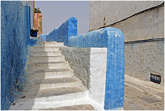 marokko 69 (beauty of all things) Tags: marokko morocco rabat architektur architecture kasbah blauweis treppen stairs