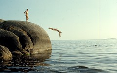 L. Utterklubben aug 1969 (gustafsson_jan) Tags: lutterklubben hartsöskärgård sörmland sörmlandskusten skärgård archipelago bad bath klippdyk cliffdiving klippbad