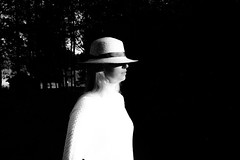 Afternoon sun (andersåkerblom) Tags: shadow sunny monochrome woman blackandwhite