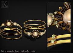 (Kunglers) Sedora bracelets AD peridot (AvaGardner Kungler) Tags: kunglers avagardnerkungler secondlifejewelry digitaljewelry diamond bracelets