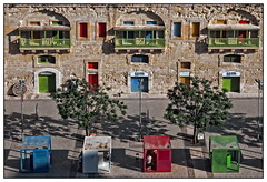 Cubes (kurtwolf303) Tags: malta valletta building gebäude colors colours farben trees bäume people personen menschen leute streetphotography strasenfotografie harbor harbour hafen europe insel island unlimitedphotos urbanlifeinmetropolis olympusem1 omd microfourthirds micro43 systemcamera mirrorlesscamera spiegellos mft kurtwolf303 lichtschatten cubes würfel doors türen lightshadows architecture architektur topf25 topf50 250v10f 500v20f 750views reisefotografie travelphotography 800views 1000v40f topf75 topf100